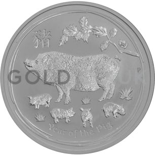 Silver Perth Mint Year of the Pig 1oz (2019)