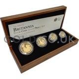 Proof Gold Britannia 4-Coin Box Set (2009)