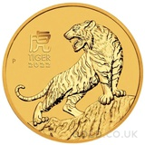 Half Ounce Gold Perth Mint Year of the Tiger (2022)