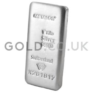 1 Kilo Metalor Silver Bar