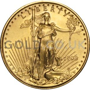 1998 1/10 oz Gold America Eagle