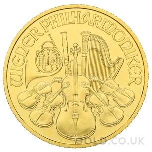 Gold Philharmonic Quarter Ounce Coin (2020)