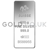 500g PAMP Silver Bar Minted