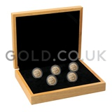 Five Sovereign Gold Coins in Gift Box (2019)