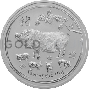 Silver Year of the Pig 5oz (2019)