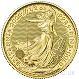 Half Ounce Gold Britannia Coin (2022)