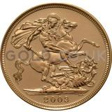 2003 Elizabeth II Fourth Head Gold Sovereign