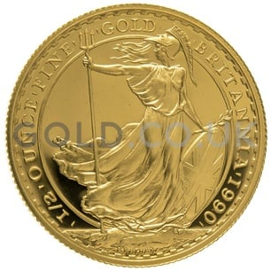1990 Half Ounce Proof Britannia