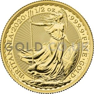 Britannia Half Ounce Gold Coin Gift Boxed (2020)