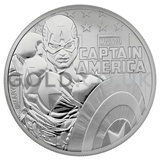 1oz Silver Captain America (2019)