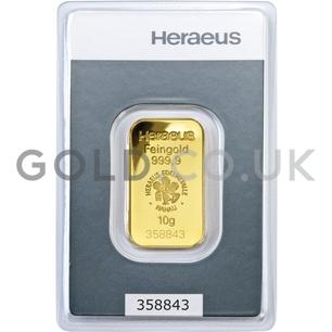 10g Heraeus Gold Bar