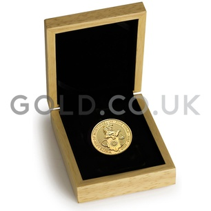 Gold White Lion of Mortimer 1oz Coin Boxed (2020)