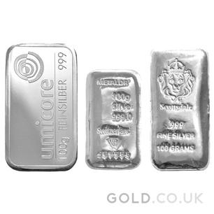 100g Silver Bar (Best Value)