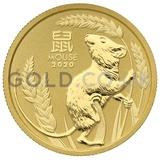 Gold Perth Mint Year of the Mouse 1/4oz (2020)