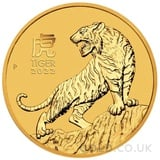 Gold Perth Mint Year of the Tiger 1/4oz (2022)