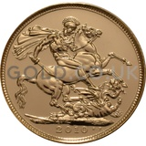 2010 Elizabeth II Fourth Head Gold Sovereign