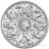 Silver 2oz Queen's Beast Completer Coin (2021)