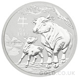 Silver Perth Mint Year of the Ox 1/2oz (2021)