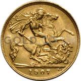 1907 Edward VII Gold Half Sovereign (London Mint)