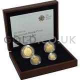 Proof Gold Britannia 4-Coin Box Set (2010)