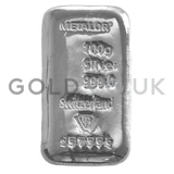 100g Metalor Silver Bar