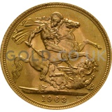 Gold Elizabeth II Sovereign (1963)