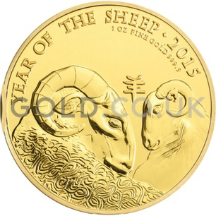 Gold Year of the Sheep 1oz (2015)