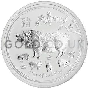 Silver Perth Mint Year of the Pig 1/2oz Gift Boxed (2019)