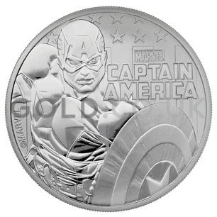 1oz Silver Captain America Gift Boxed (2019)