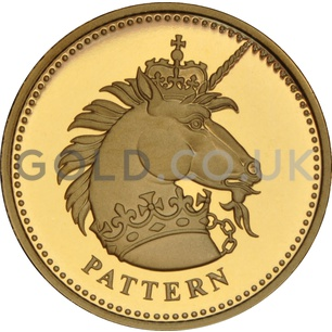 One Pound Gold Coin - Unicorn of Scotland Pattern (2004)