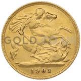 1903 Edward VII Gold Half Sovereign (London Mint)
