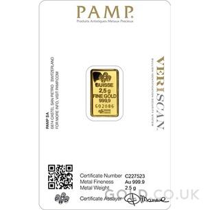 2.5g PAMP Gold Bar