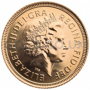 Elizabeth II Fourth Head Gold Half Sovereign