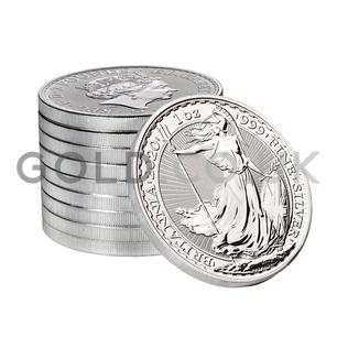 Tube of 25 x 2020 1oz British Silver Britannia