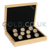 Ten Sovereign Gold Coins in Gift Box (2019)