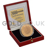 Gold Five Pound Proof Coin, Millennium Boxed (1999-2000)