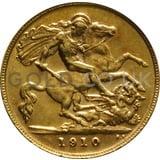 1910 Edward VII Gold Half Sovereign (London Mint)