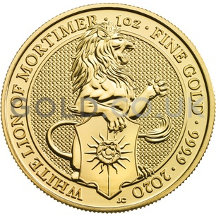 Gold Lion of Mortimer Tube of 10 x 1oz (2020)