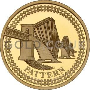One Pound Gold Coin -  Forth Railway Bridge Pattern (2003)