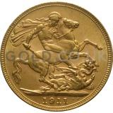 1911 George V Gold Sovereign (Melbourne Mint)