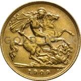 1909 Edward VII Gold Half Sovereign (London Mint)