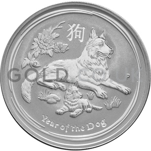 Silver Perth Mint Year of the Dog 1oz (2018)