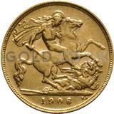1906 Edward VII Gold Half Sovereign (London Mint)
