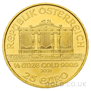 Gold Philharmonic Quarter Coin Gift Boxed (2021)
