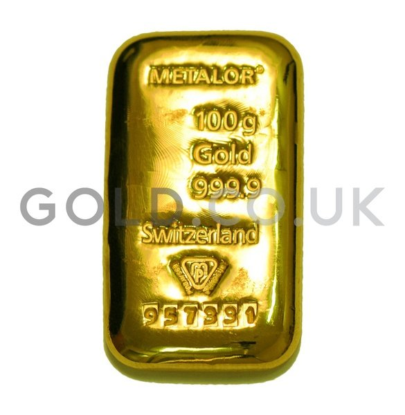100g Metalor Cast Gold Bar Gold Co Uk From 163 3 138