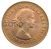 Elizabeth II, Young Head - Gold Sovereign