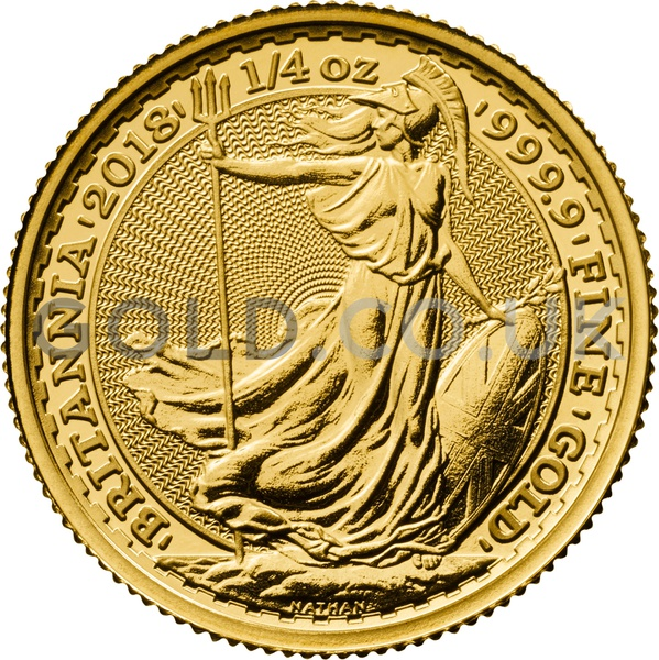 Quarter Ounce Gold Britannia 2018 Gold Co Uk From 163 265