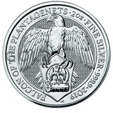 Silver Falcon of the Plantagenets 2oz (2019)